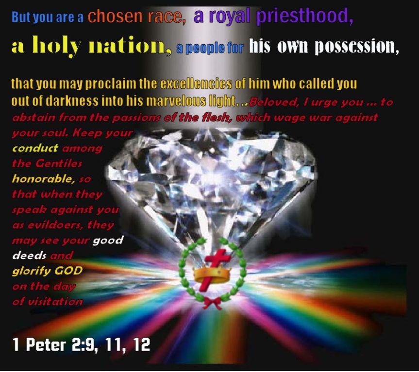 diamond with cross