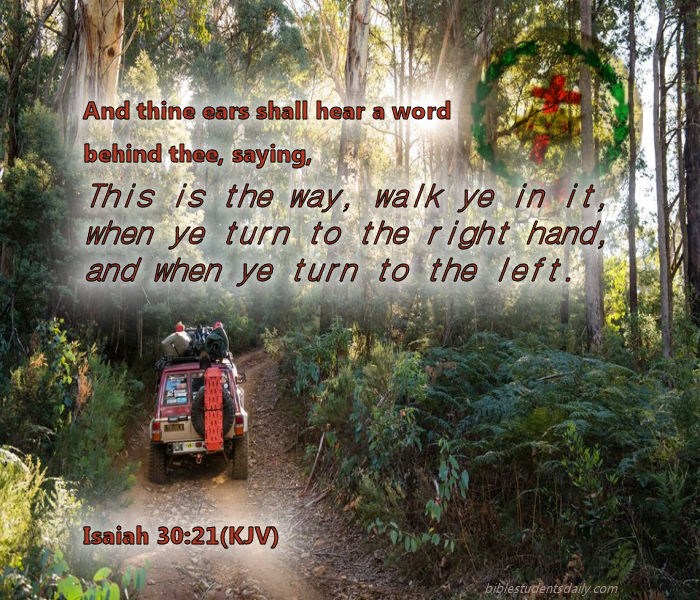 Aim to listen as if to the softest whisper from GOD - as if you are hypersensitive to sound - and then you will walk closely to GOD and follow GOD - it will lead to the springs of the most refreshing water of GODLY TRUTH for your thirsty flesh after that which is PERFECT and shall give you JOY forevermore!