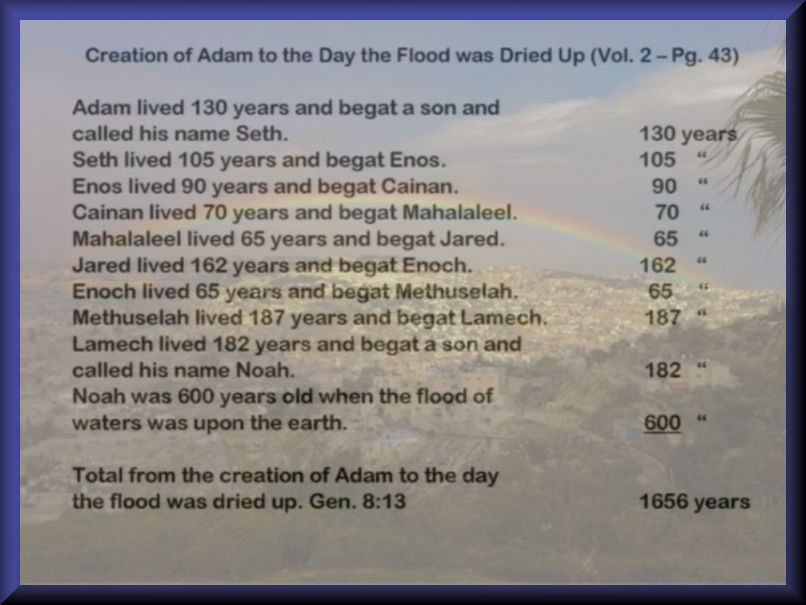 From Adam to the Flood