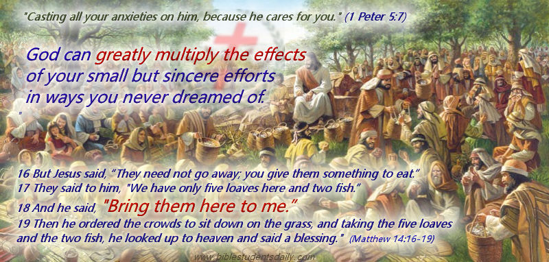 Jesus Feeds The Multitudes With Fish and Loaves of Bread – BIBLE Students  DAILY