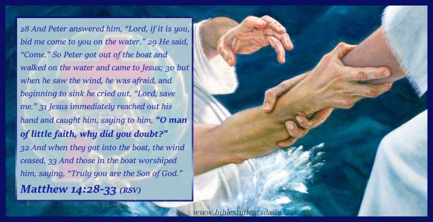 Jesus walks on water - Matthew 14